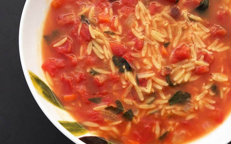 Turkish Vegetable Soup with Orzo