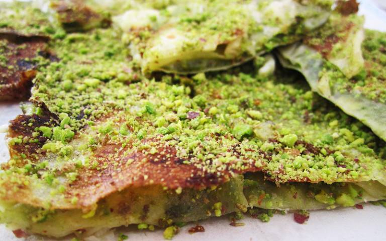 How to Make Katmer, Turkish Crunchy Pancake With Pistachio