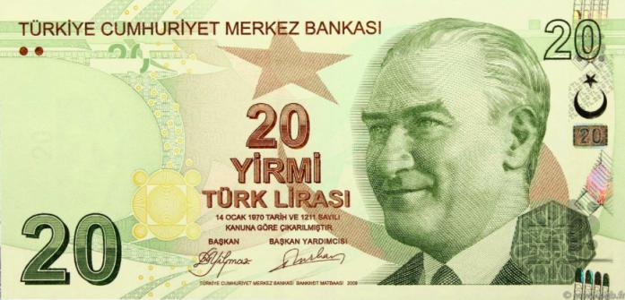 20 Turkish Lira