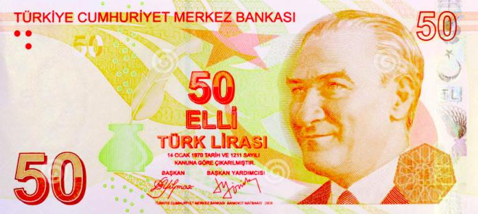 50 Turkish Lira